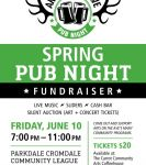 Spring Pub Night Fundraiser feat. Arts on the Ave at Parkdale Cromdale Community Hall (Edmonton)  on June 10, 2016